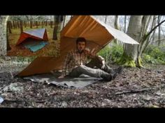 Oilskin Tarp 8x8 Review - YouTube & Tentsmithu0027s Oilskin Tarp: Bit pricey but I love my 8u0027×8 ...