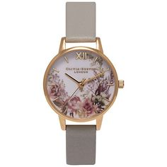 Buy Olivia Burton OB15FS52 Women's Flower Show Watch, Grey Online at johnlewis.com