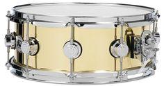 DW 5.5X14 Brass Polished Snare Drum w/ Chrome