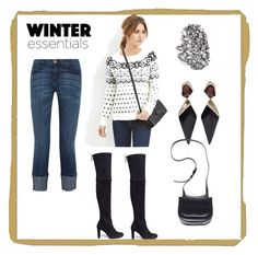 """""""Winter Look"""" by paige-brrian ❤ liked on Polyvore featuring Theia Jewelry, Alexis Bittar, Current/Elliott, Ann Demeulemeester and Stuart Weitzman"""