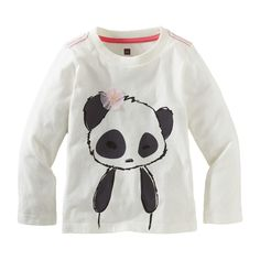 Pretty Panda Graphic Tee- need this for my daughter!
