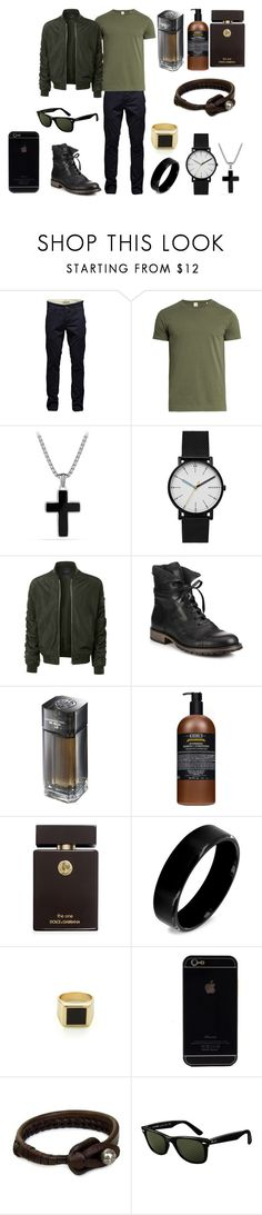 """Без названия #3940"" by southerncomfort ❤ liked on Polyvore featuring Jack & Jones, Sørensen, David Yurman, Skagen, LE3NO, Belstaff, Shanghai Tang, Kiehl's, Dolce&Gabbana and West Coast Jewelry"