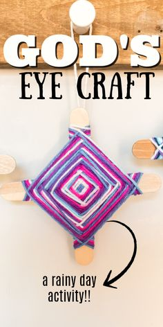 Learn how to make the classic summer camp and Sunday school project - a God's Eye. Weaving yarn around popsicle sticks to create a cool design. Summer Camps For Teens, Summer Camp Art, Summer Camp Crafts, Camping Crafts, Diy Projects With Popsicle Sticks, Popsicle Crafts, Craft Stick Crafts, Yarn Crafts For Kids, Crafts For Teens