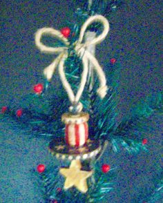 Folk Art AMERICANA Ornament-Original Primitive by FolkArtWorks