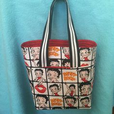 Betty Boop Tote Bag by mrssewnsews on Etsy