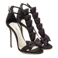 Olgana La Delicate 10 Satin Sandals ($709) ❤ liked on Polyvore featuring shoes, sandals, black sandals, satin shoes, black satin shoes, kohl shoes and satin sandals