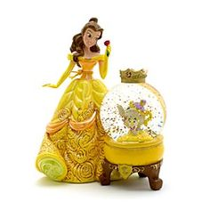 Disney Belle Snow Globe   Disney StoreFree Shipping - This enchanting Belle snow globe will cast a spell over any room. It features a delightful rendering of the princess in a pearlescent finish, holding Mrs Potts and Chip in the glitter filled dome.