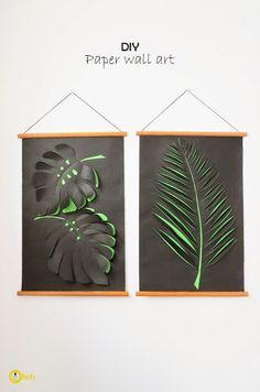 más y más manualidades: Decoraciones de papel para marcos o paredes.