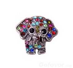 $4.99 Lovely Full Rhinestone Studded Elephant Animal Ring at Online Cheap Fashion Jewelry Store Gofavor,Girly.Lovely,<3,Gorgeous Ring,Gofavor.com.