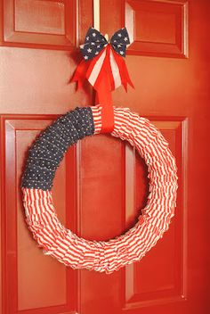 {simple} 4th of July Ruffle Wreath