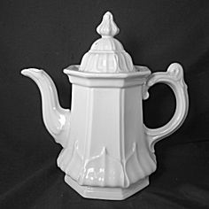 White Ironstone Teapot, Fig