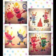 絵画 手形アート 5歳児節分の制作♡可愛くてお気に入りの作品♡