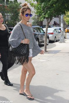 Jennifer Lopez kept it casual for her outing in NYC on Sunday.