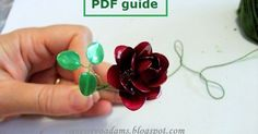 Wire flowers with nail polish PDF guide PDF guide Beautiful bracelet made from wire and nail polish: What you ne...