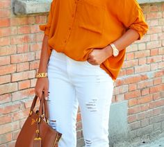regular, not torm, jeans and this shirt which is a great color.  classy-inthecity.com Your Dose Of Classy!