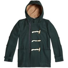 Fancy - Green Wool Zippered Duffle Coat by Band Of Outsiders