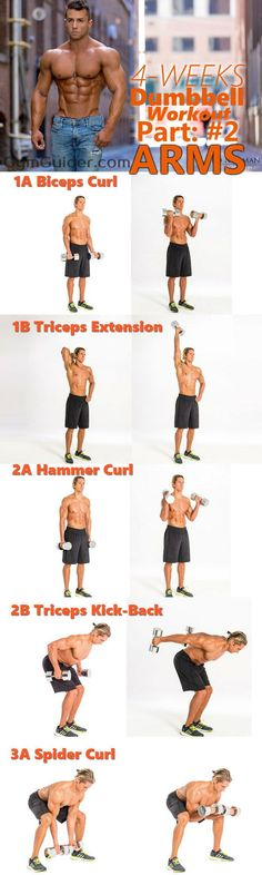 Though the arms are difficult muscles to build? We share how to get them toned up with dumbbells! With this 6 Most Effective arm Workouts. Goal-specific arm exercises workout program for men and women that consistently stresses arms. Bust out the dumbbells for this at-home arm workout that will work your biceps and triceps. When you want to isolate specific muscle groups in the arms, using dumbbells is truly effective - get ready to feel the burn!