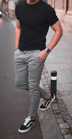 Outfit Hombre Casual, Outfits Casual, Stylish Mens Outfits, Mode Outfits, Mens Casual Suits, Cool Summer Outfits Men, Stylish Clothes For Men, Urban Style Outfits Men, Best Winter Outfits Men