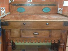 Antique French Medium Wood Tone Maple Butcher Block Table 1800 to 1899   eBay & Antique French Plate Rack (Estagnier) Curio Shelf Bookcase Walnut ...
