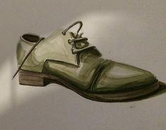 watercolor,shoe,drawing