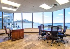 3005 1st Ave, Seattle WA - Office Space Listings | 42Floors  Office Layout Ideas. beautiful view from the workplace