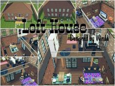 SIMPLE LOFT HOUSE DESIGN (SIMS FREEPLAY) - YouTube