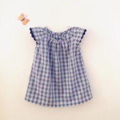 Vestito maniche corte quadretti bambina / Abiti di FiruliFirula, €39.50