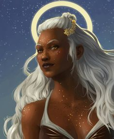 """jessmightwork: """"Reani from Critical Role, an Aasimar Druid played by Mica Burton. Black Characters, Dnd Characters, Fantasy Characters, Female Characters, Character Creation, Character Concept, Character Art, Character Design, Character Ideas"""