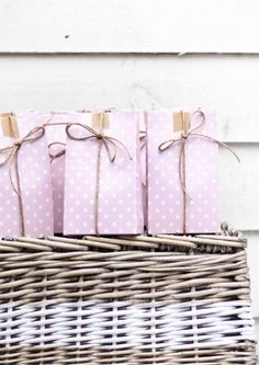 sambellina - pink polka dot party bags