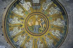 Ravenna mosaics The Arian Baptistry Vicolo Degli Ariani, 1 small octagonal building was also erected by the Ostrogothic King Theodoric the Great between the end of the 5th century and the beginning of the sixth century.
