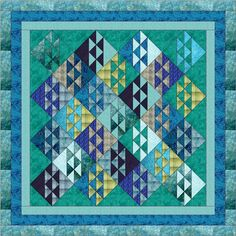 Easy Quilt Kit Ocean Waves Shades of The Ocean Pre Cut Fabrics Ready to Sew | eBay