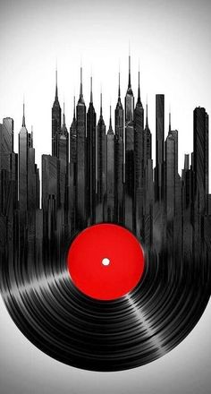 Find Vinyl City stock images in HD and millions of other royalty-free stock photos, illustrations and vectors in the Shutterstock collection. Thousands of new, high-quality pictures added every day. Music Painting, Music Artwork, Musik Illustration, Digital Illustration, Illustrator, Plakat Design, Graphisches Design, Grafik Design, Photomontage