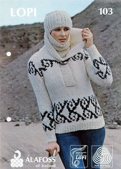 Pattern - LOPI 103 - Icelandic knitted sweater and hat in Álafoss Lopi