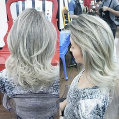 Ice Highlights by Roni Cesar #circushair #circuspamplona #hair #highlights #ombre #sombre #fashion #style