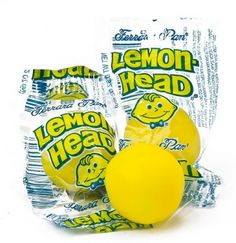 Deliciously sweet and sour lemon candy. Tickle your tastebuds with this old-time delight. 90s Candy, Sour Candy, Candy Land, Retro Candy, Candied Lemons, Candied Nuts, Hard Candy, Lemon Head, Nostalgic Candy