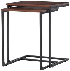 Industrial Mansard Nesting Tables - Set of 2