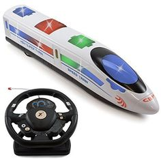 RC Train Electronic Musical Toy 3d Back Lighting&Sound ,Sirens for Kids Xmas