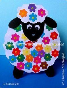 ДЕТСКИЕ ПОДЕЛКИ | VK Sheep Crafts, Farm Crafts, Diy And Crafts, Arts And Crafts, Easter Projects, Easter Crafts For Kids, Marker Crafts, Paper Plate Crafts, Art N Craft