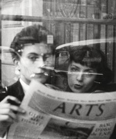 Armin Haab (famous photographer/author  snapped this picture of a couple In Einem Café, Paris 1952.  ARTS were & are very relevant.....