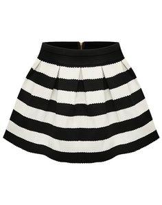 Black Apricot Stripe Flare Zip Skirt 9.99