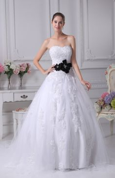 Gorgeous Hall Princess Sweetheart Sleeveless Backless Court Train Bridal Gowns