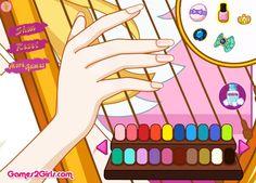 Dostosuj paznokcie Aniołka, który co chwila gra na swojej pięknej harfie. Jaki kolor lakieru postanowisz wybrać?  http://www.ubieranki.eu/gry/3911/manicure-aniola.html