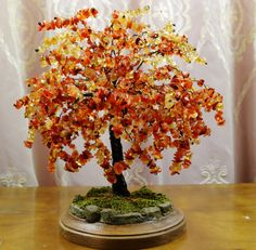 Autumn Fire Tree of Life Sculpture with Citrine by MarilynsTrees, $315.00