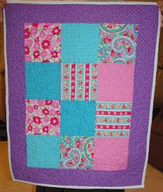 Doll quilt from dress scraps