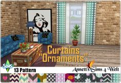 Ornaments Curtains at Annett's Sims 4 Welt • Sims 4 Updates