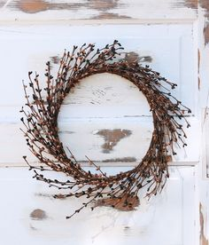 Wreath is 8 Cream Mini Wreath Or Candle Ring Country Primitive Floral D/écor Perfect Candle Ring for 4 Pillars