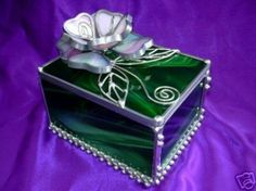 Trinket Box by JasGlassArt - Stained Glass, via Flickr