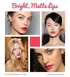 Autumn Winter 2013 Makeup Trends: The bright, matte lip