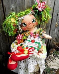 Rag Dolls, Christmas Ornaments, Holiday Decor, Style, Fabric Dolls, Swag, Cloth Art Dolls, Christmas Jewelry, Christmas Decorations