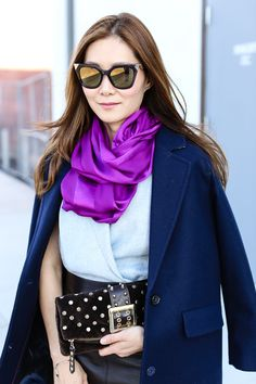 Scarf by www.thescarfshop.com. Look by https://www.pinterest.com/stylewich/ #thescarfshop #silkscarves #scarves